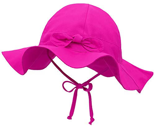 SimpliKids UPF 50+ UV Sun Protection Wide Brim Baby Sun Hat,Rose,2-4 Years ()