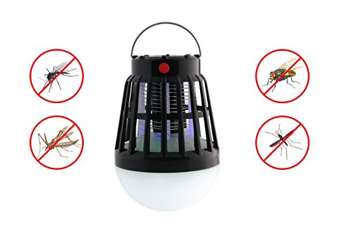 BLQH Solar Powered Bug Zapper Light, Solar Mosquito Killer Insect/Fly/Mosquitoes/Moths/Flies Killer Trap Pest Control LED Garden Lawn Lamp Electronic Insect Killer Waterproof for Outdoor (Solar Bug Killer Light)