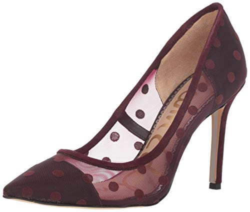 - Sam Edelman Women's Hazel Pump, deep Burgundy Dotted mesh, 8 M US