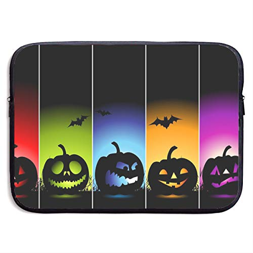 CRSJBB219 Cool Pumpkin Halloween Laptop Sleeve Bag 13 15 Inch Notebook Computer PC Neoprene Protection Case Cover Pouch Carrier Holder ()