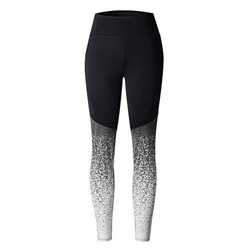 Athletic Leggings, Gillberry Women High Waist Yoga Fitness Leggings Running Gym Stretch Sports Pants Trousers (Gray X, XL)