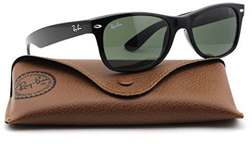 8cdd8d2d9 Galleon - Ray-Ban RB2132 New Wayfarer Classic Unisex Sunglasses (Black Frame  / Green G-15 Lens 901, 52)