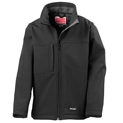 Result Junior classic softshell 3 layer jacket Black 2XL