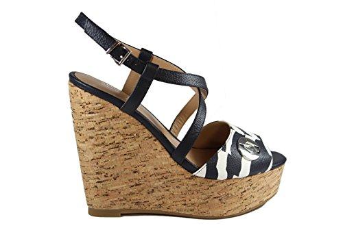 ARMANI JEANS sandali con zeppa in pelle P/Estate 2015
