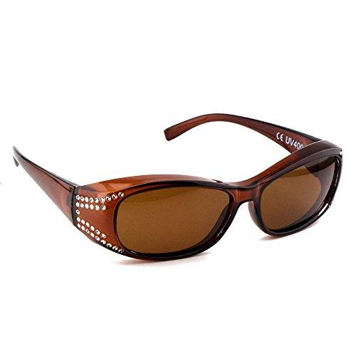 Surlunettes DE comme LUNETTES Marron solaire couleurs SOLEIL polarisées Protection Figuretta plusieurs de Lentilles polarisantes lunettes 400 clip soleil SUR Noir UV wEnqO