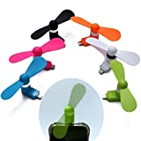 Dazzle mall Mobile USB Fan/Portable USB Fan/Mini Mobile Cooler/Mini USB Fan for Android Phones (Random Color)