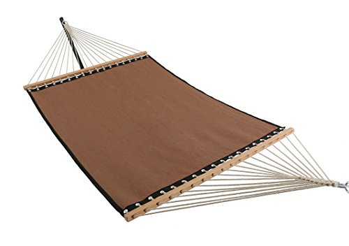 ELC 11 Feet Quick Dry Hammock with Spreader Bars, Double Hammocks with Chain, Hanging Kits and Hooks, Fit for Outdoor Patio Yard Poolside, Red