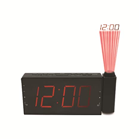 Vosarea Reloj Digital Despertador con Proyección y Radio Moderno LED Pantalla con Función de Repetición para