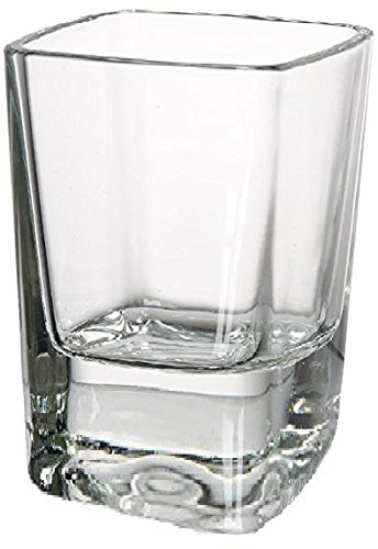 Square Shot Glasses, Set of 6, Heavy Base Glassware Drinking Cups for Whiskey, Vodka, Brandy, Bourbon and Best Selling Liquor, 2.3 oz, Squarez - Circleware 42701