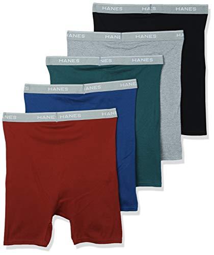 Assorted Medium Hanes Men/'s 2-Pack Exposed Waistband Boxer Briefs