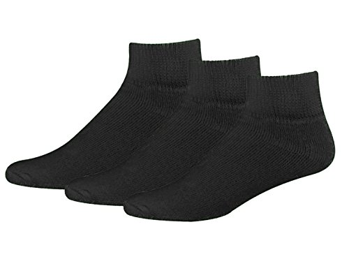 Classic Men's Big and Tall Diabetic Non-Binding Ankle Quarte