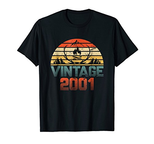 Vintage camping 2001 Shirt 17th Birthday Gifts 17
