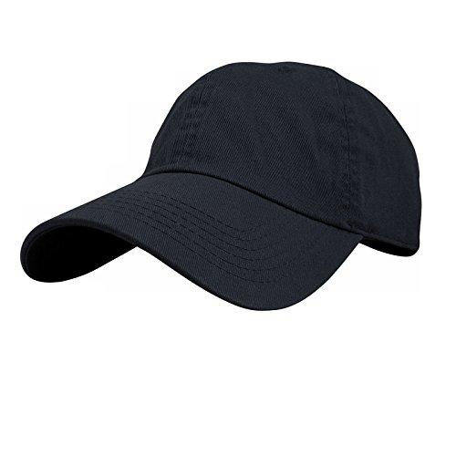 Baseball Hat Racing Cap (USBingoshop Men Women Unisex Plain Color Baseball Cap Hat 100% Cotton Adjustable Size (02-Navy))