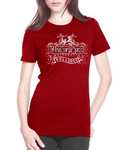 NCAA Gardner-Webb Bulldogs Women's Prius2 Long Body Classic T-Shirt (Red, Large)