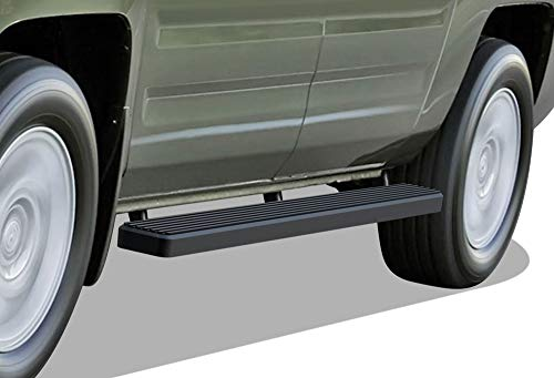 APS iBoard (Black Powder Coated 4 inches) Running Boards | Nerf Bars | Side Steps | Step Rails for 2006-2014 Honda Ridgeline Crew Cab Pickup 4-Door