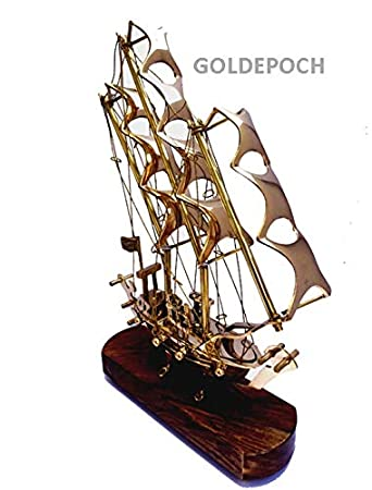 Buy GoldEpoch Handcrafted Metal Brass Sailing Ship