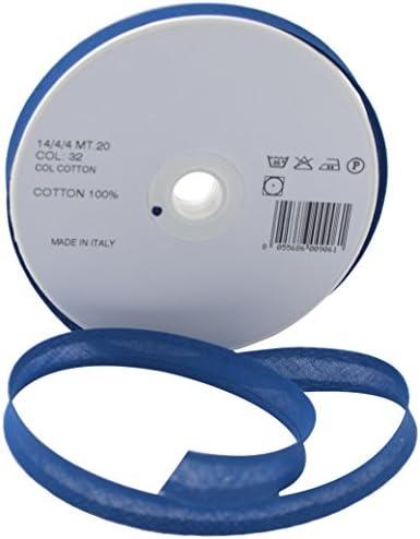 Inastri 14//4// 4 mm Color Azul Real 32 Cinta bies de algod/ón