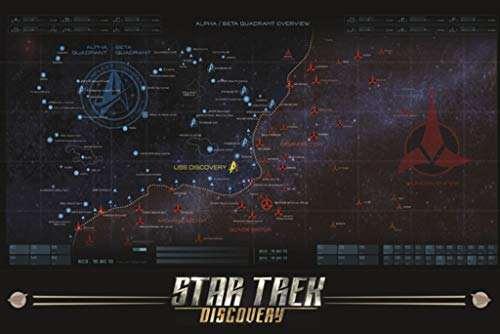 Trek Discovery Map Poster 24x36 inch ()