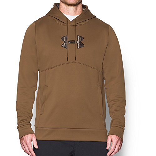 Under Armour Men's Storm Caliber Hoodie, Saddle/Realtree Max 5, X-Large (Blue Camo Under Armour Sweatshirt)