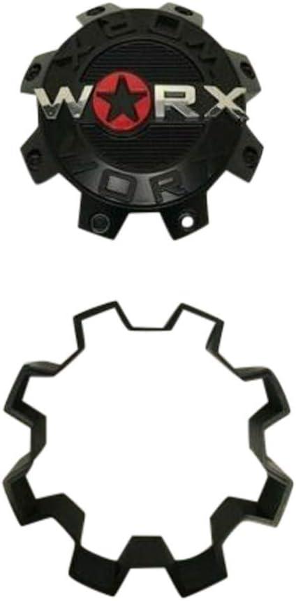 Worx by Ultra 8 Lug Gloss Black Wheel Center Cap 30171765F-A 2-Inch Spacer