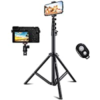 59 Extendable Tripod for iPhone /& Android Phones Bluetooth Remote Selfie Stick Tripod Camera Tripod Stable Base Lightweight Selfie Stick Detachable Design VICSEED Phone Tripod