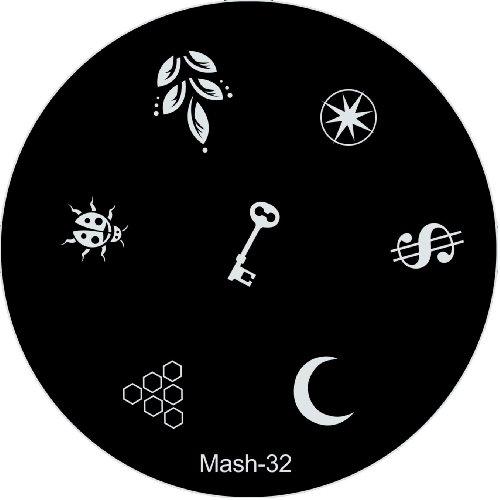 Hansen Plates - MASH Nail Art Stamp Stamping Image Plate No 32
