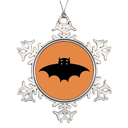 Metal Ornaments Halloween Bat Personalised Christmas Tree Decoration Halloween Wedding Tree Decorations Halloween Party Prize Favor Cute Mean Angry Scary Bat ()