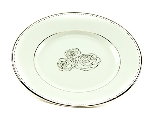 Monique Lhuiller for Waterford Sunday Rose Bread / Butter Plate - Silver / White