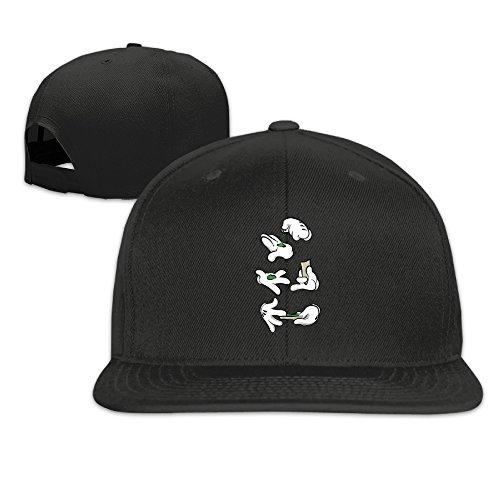 Nobee-Unisex-Cartoon-Hand-Smoking-Marijuana-Dope-Snapback-Adjustable-Flat-Baseball-HatCap