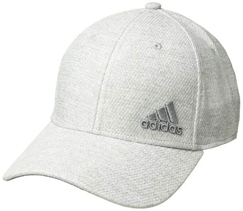 (adidas Men's Release Stretch Fit Structured Cap, jersey/white/clear Onix, S/M)