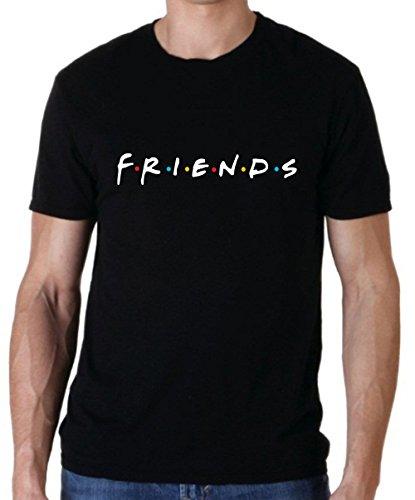 Friends TV Show T-Shirts (Black, Large)
