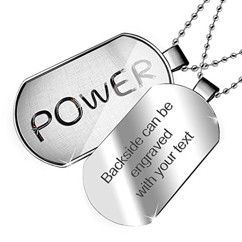NEONBLOND Personalized Name Engraved Power Electronics Wires and Cables Dogtag Necklace