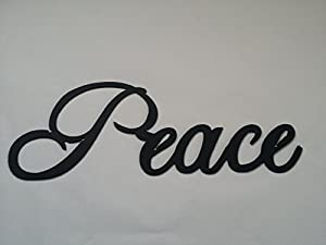Peace Word Metal Wall Art Home Decor