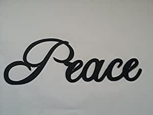 Peace Word Metal Wall Art Home Decor