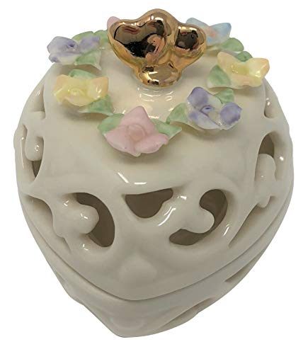Lenox Heart Pierced Covered Box (Ceramic)