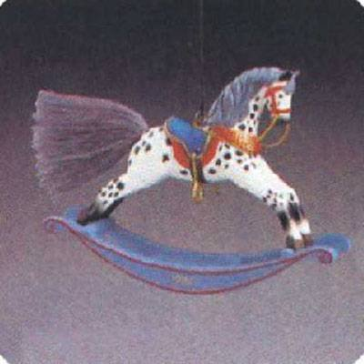 Hallmark Keepsake Ornament - Rocking Horse Fourth in Series 1984 (QX4354) Rocking Horse Keepsake