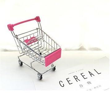 Green Xiton 1pc Mini Shopping Cart Supermarket Handcart Shopping Utility Cart Mode Storage Toy