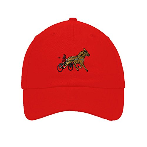Sulky Racer Horse Race Embroidered Soft Unstructured Hat Baseball Cap (Sulky Race)