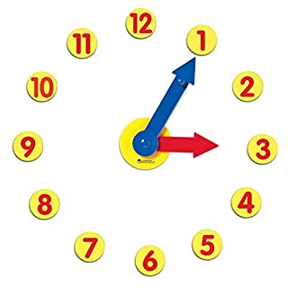 Learning Resources Magnetic Time Activity Set, Homeschool, Time Telling, Basic Math Skills, Giant Demo Clock, Whiteboard Accessories, Grades K+, Ages 5+