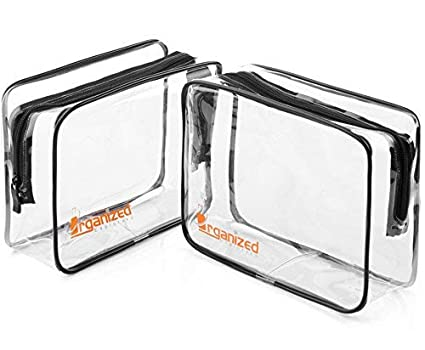 0a4f799129 Amazon.com  TSA Approved Toiletry Bag - Organized Explorers Clear Travel  Toiletry Bag 2 pack - for Carry On Luggage  Harris Trading Co.
