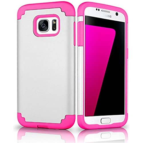 Galaxy S7 Case, Samcore Hybrid Dual Layer Shockproof Rubber Rugged case for Samsung Galaxy S7 [WHITE/PINK] Sales