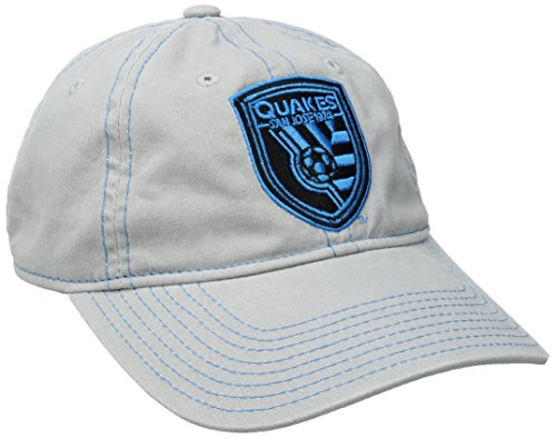 fan products of MLS San Jose Earthquakes Adult Women MLS SP17 Neon Logo Adjustable Slouch Cap,Osfa,Gray