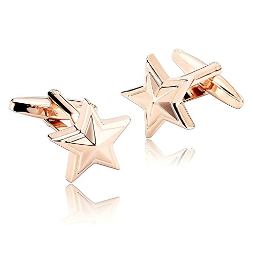 epinki-men-stainless-steel-starfish-star-fish-seas-beach-rose-gold-stylish-modern-cufflinks