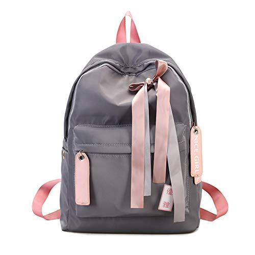 JAGENIE Imperméable Girls Pink Dos Bow Nylon Sac l'eau Deep Voyage Casual en À Daypack École Femmes Gris avec À fdfSwEHrq
