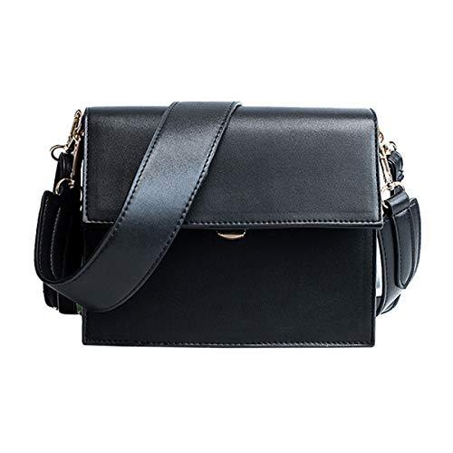Square Flap Purse - Editha Women Solid Color PU Leather Cross Body Bag Small Square Flap Bag Adjustable Shoulder Bag Purse Black