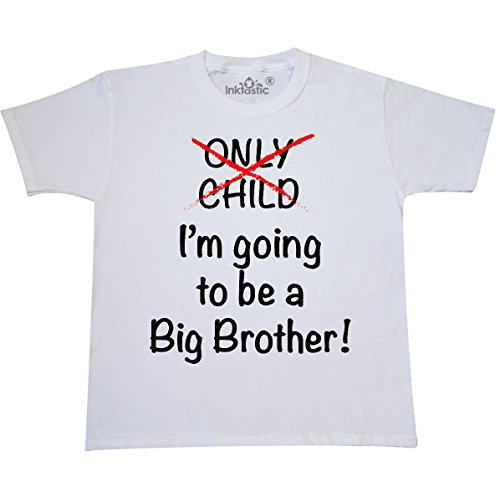 inktastic - I'm going to be a Big Youth T-Shirt Youth Medium (10-12) White (Youth T-shirt Medium Only)