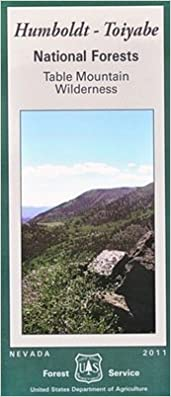 Table Mountain Wilderness Map, Humboldt-Toiyabe National