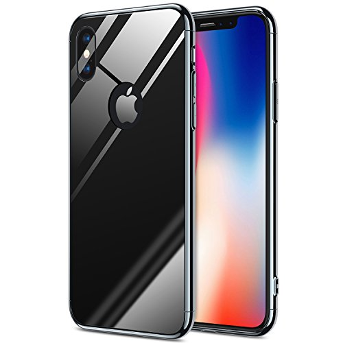 iPhone X Case, iPhone 10 case RANVOO 3 in 1 Stylish Thin and Slim Hard Case Matte Surface with Electroplate Frame for Apple iPhone X (Jet Black) (Iphone Stylish Case)
