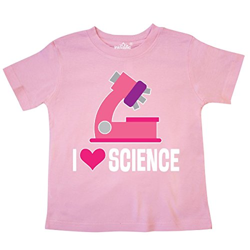 inktastic - I Love Science Future Scientist Girls Toddler T-Shirt 2T Pink -