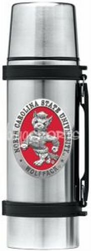 (North Carolina State Wolfpack Mascot Logo Stainless Steel Thermos)